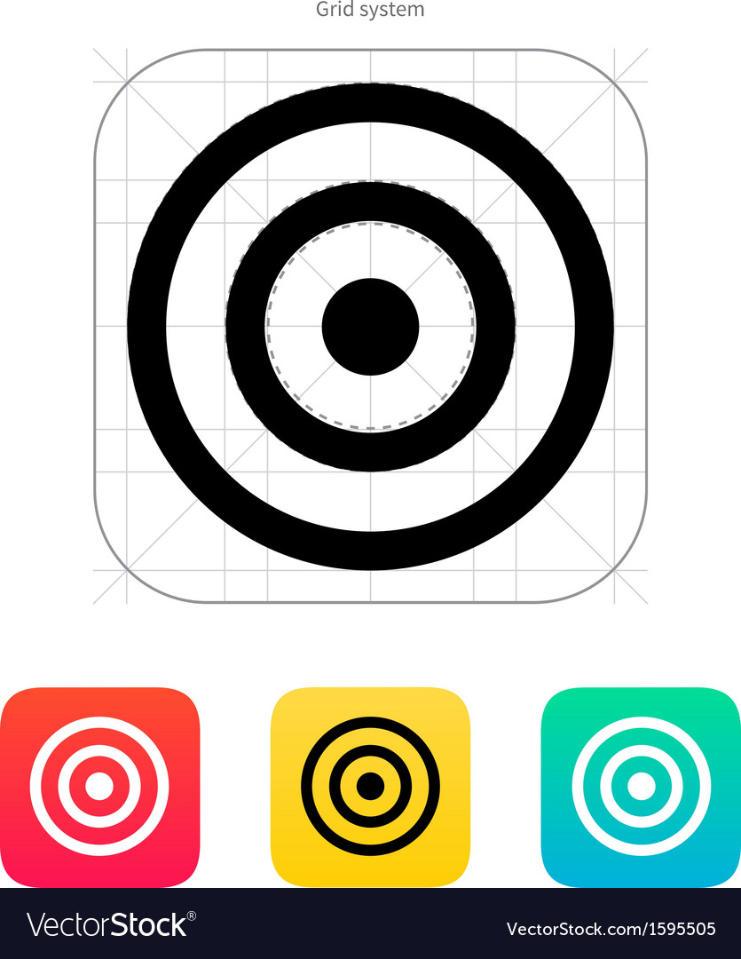 Target icon vector | Price: 1 Credit (USD $1)