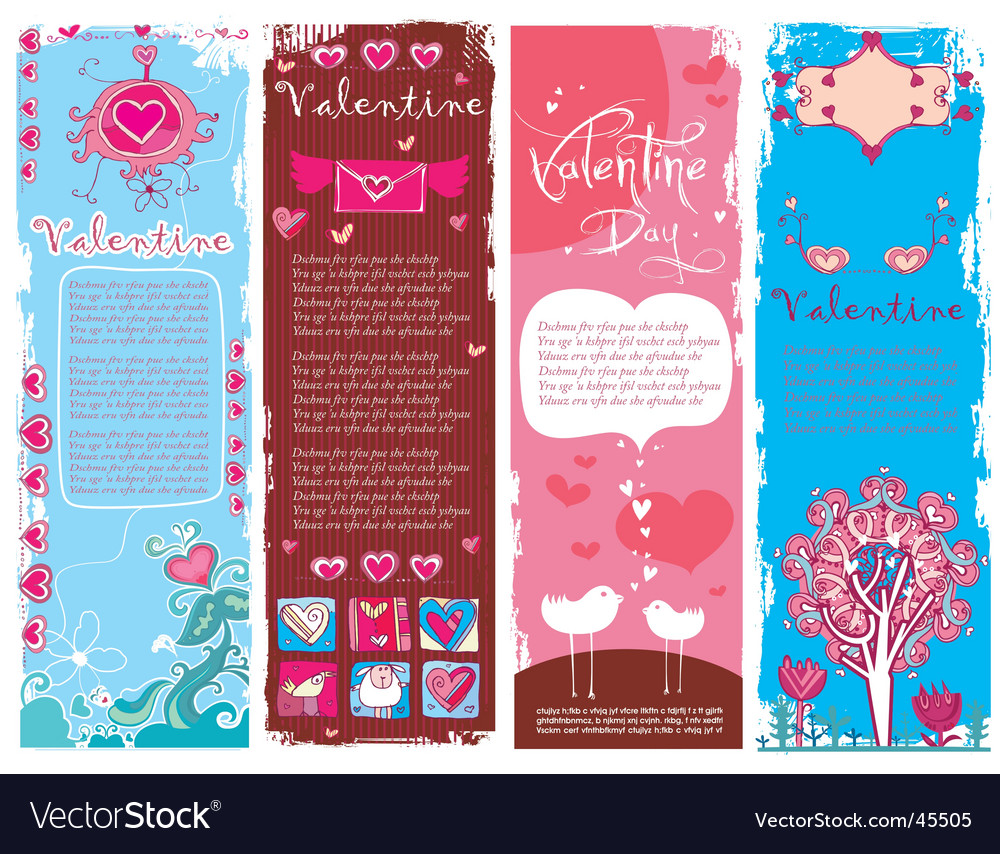 Valentine's day banners vector | Price: 3 Credit (USD $3)