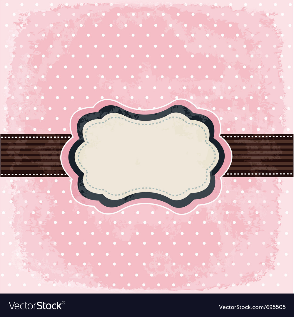 Vintage polka dot design vector | Price: 1 Credit (USD $1)