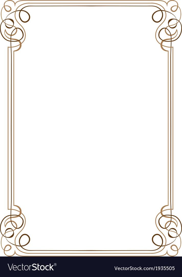 Vintage vertical frame vector   Price: 1 Credit (USD $1)