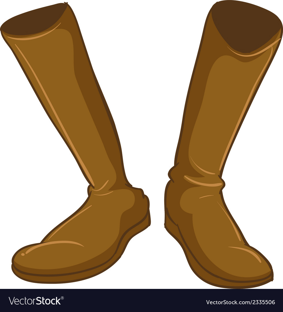 A pair of a fashionable brown boots vector | Price: 1 Credit (USD $1)