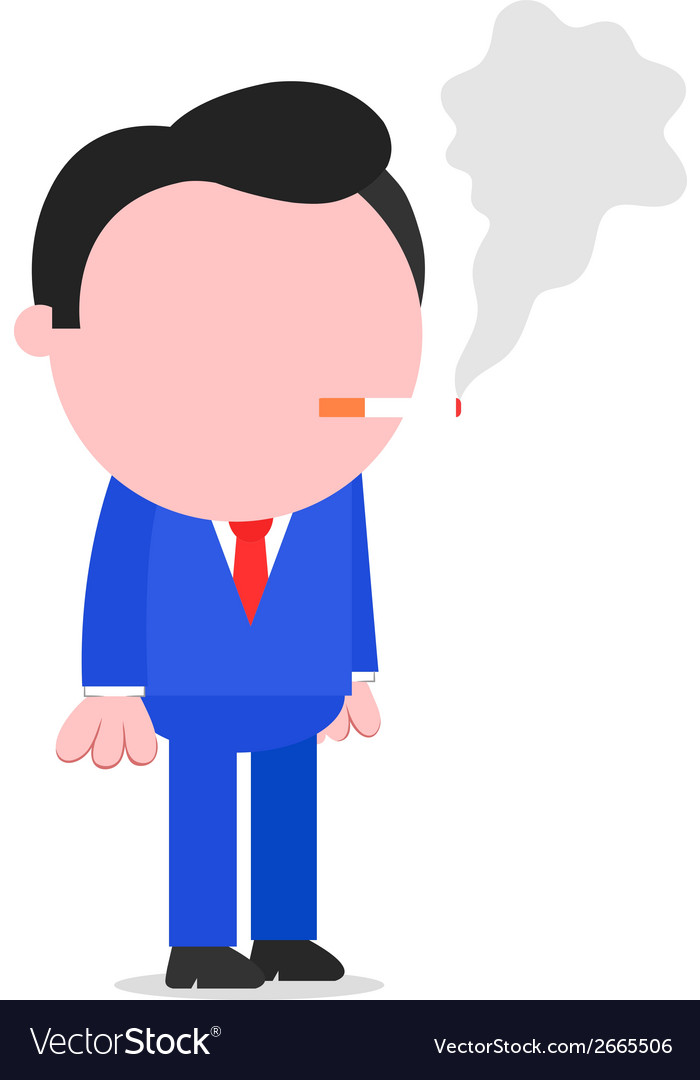 Businessman smoking cigarette vector | Price: 1 Credit (USD $1)