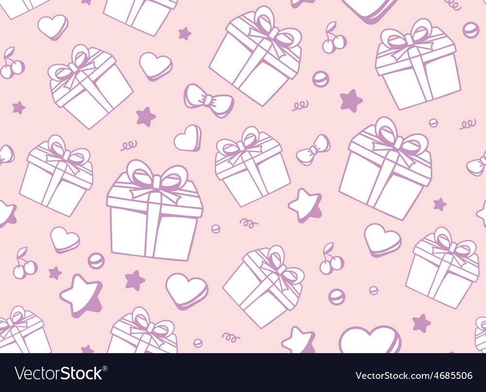 Festive muted color pattern with white gift box vector | Price: 1 Credit (USD $1)