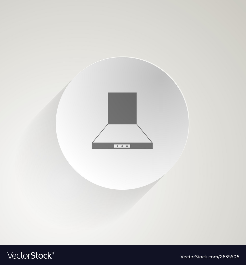 Flat icon for cooker hood vector | Price: 1 Credit (USD $1)