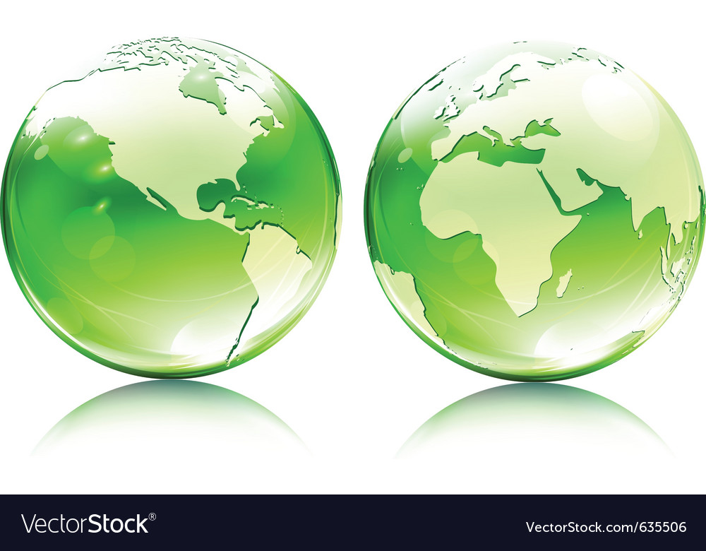 Glossy earth globes vector | Price: 1 Credit (USD $1)