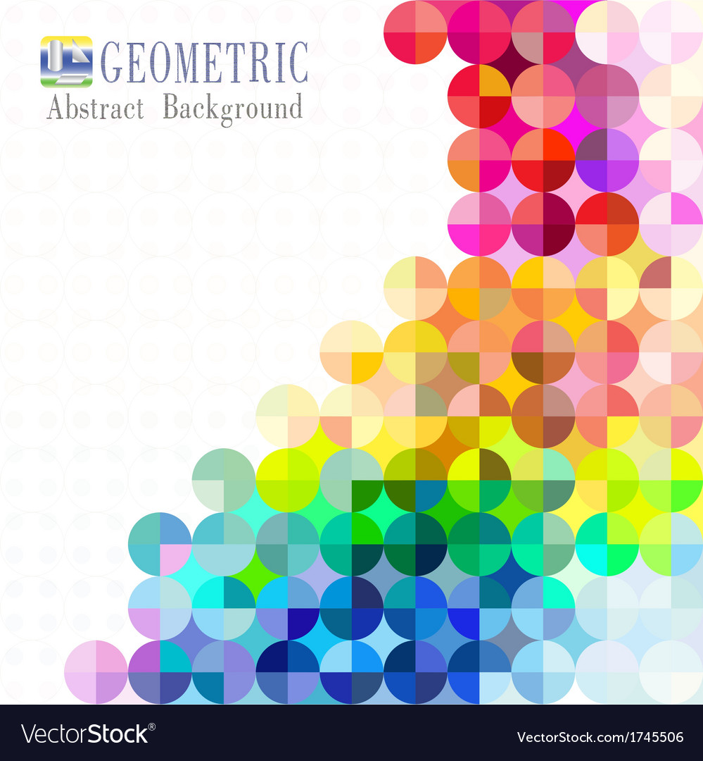Multicolored mosaic background vector | Price: 1 Credit (USD $1)
