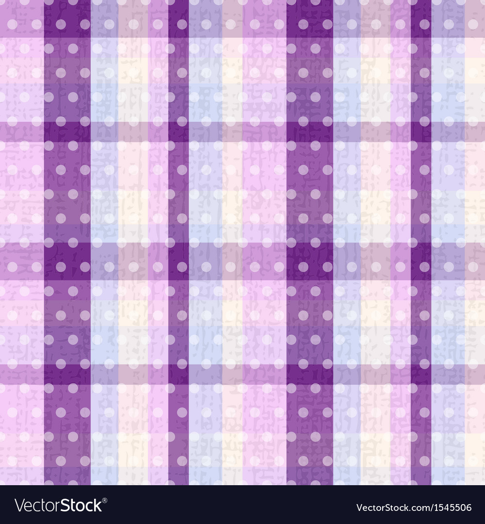 Seamless plaid and polka dots background texture vector | Price: 1 Credit (USD $1)