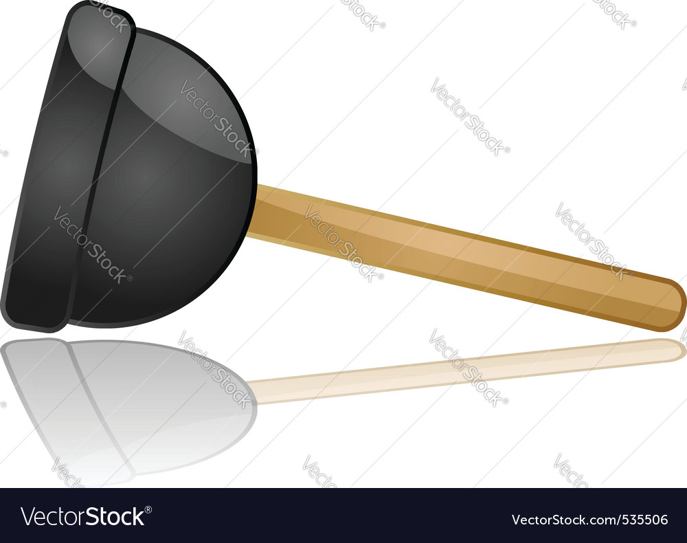 Sink plunger vector
