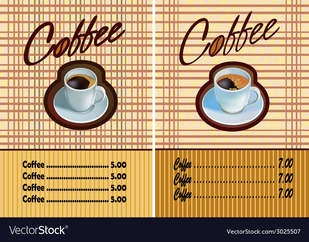 Banner for restaurant and cafe coffee vector | Price: 1 Credit (USD $1)