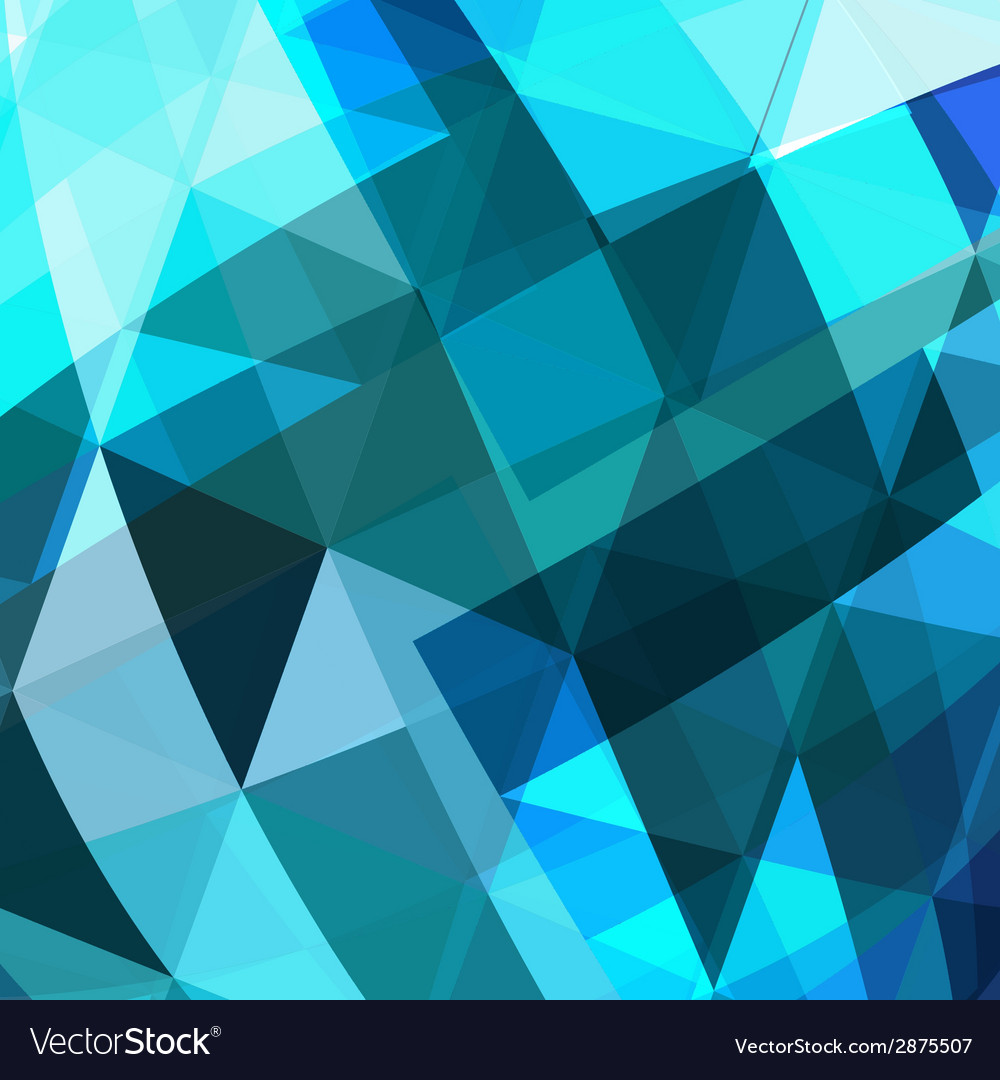 Blue triangle abstract background vector   Price: 1 Credit (USD $1)