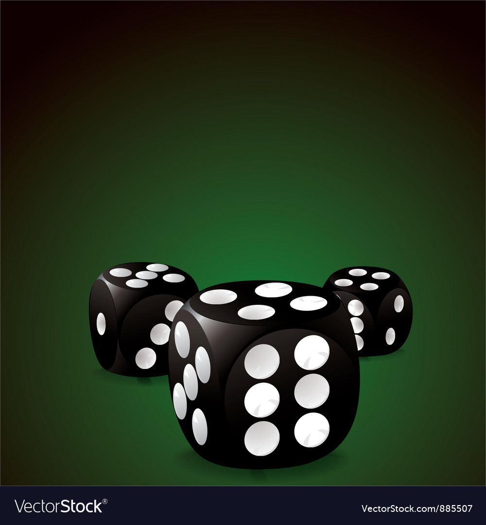 Casino dice vector | Price: 1 Credit (USD $1)