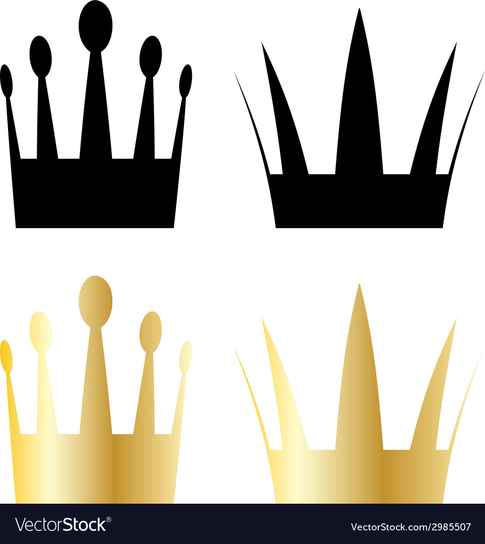 Crown symbols vector | Price: 1 Credit (USD $1)