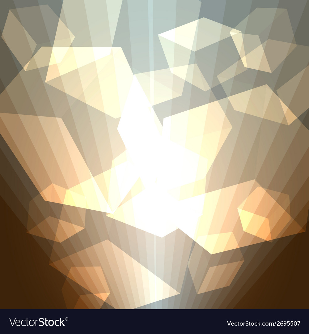Golden cubes abstract background vector | Price: 1 Credit (USD $1)