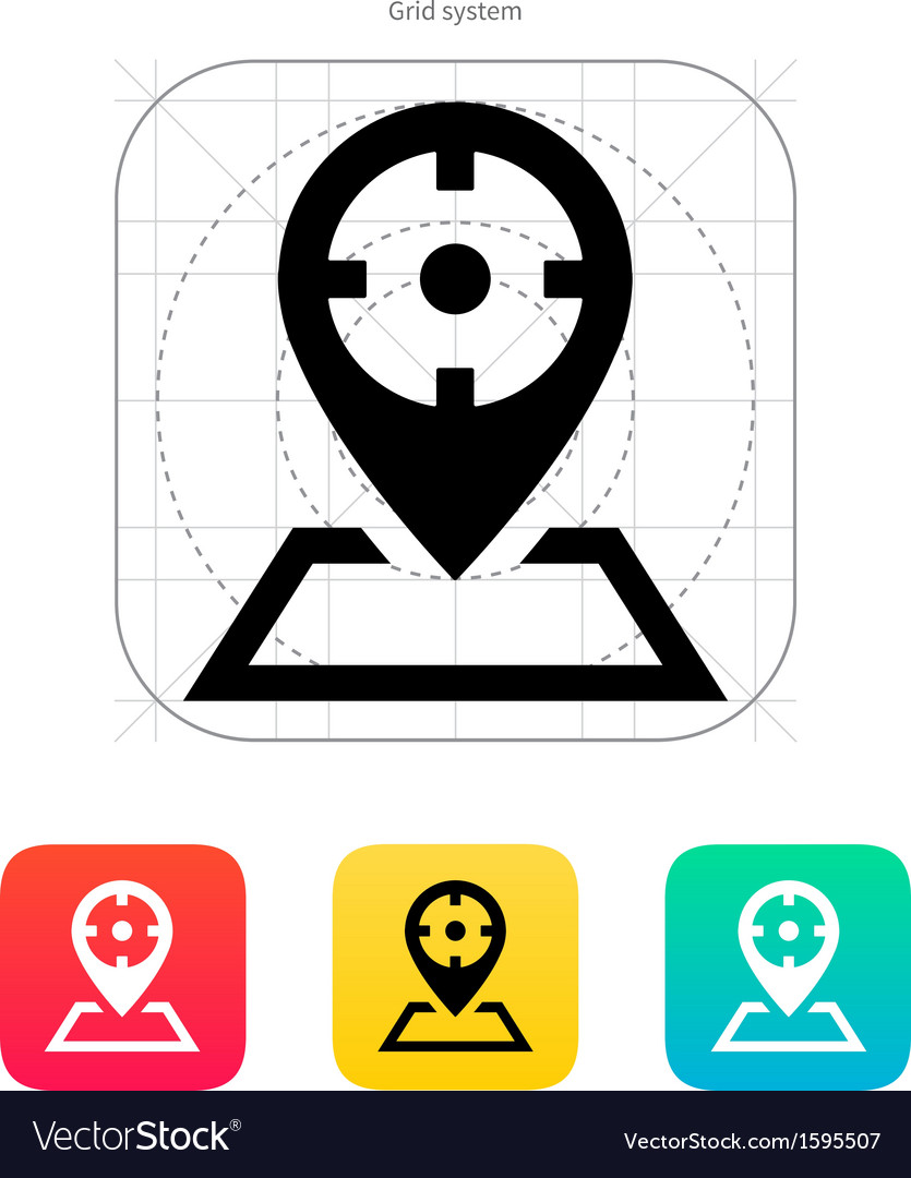 Optical sight icon vector | Price: 1 Credit (USD $1)