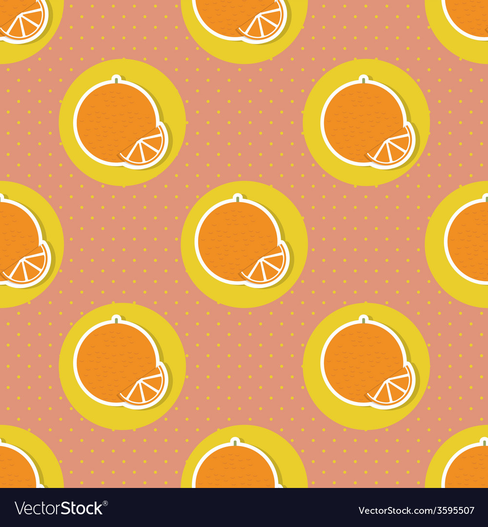 Oranges pattern seamless texture with ripe oranges vector | Price: 1 Credit (USD $1)