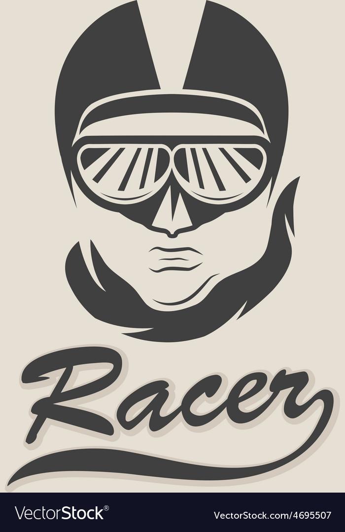 Racer head vintage vector   Price: 1 Credit (USD $1)