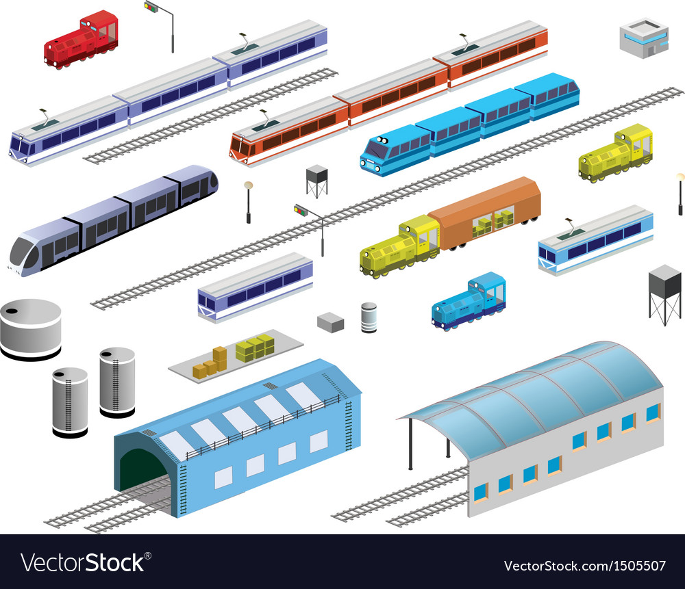 Railroad equipment vector | Price: 1 Credit (USD $1)