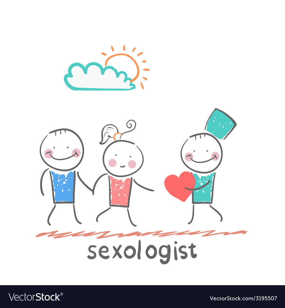 Sexologist gives the heart a man and woman vector | Price: 1 Credit (USD $1)