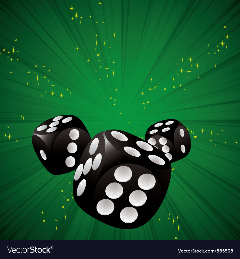 Casino dice green vector | Price: 1 Credit (USD $1)