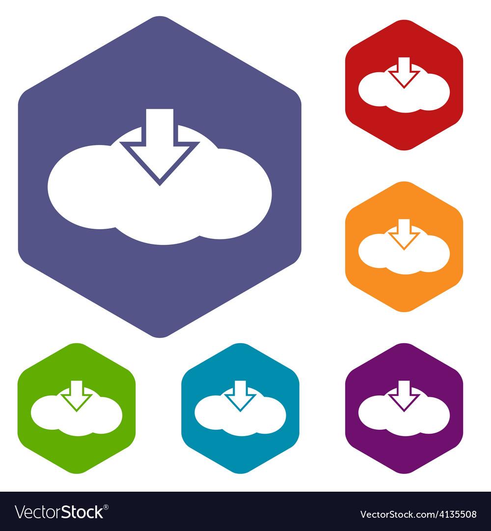 Download cloud rhombus icons vector   Price: 1 Credit (USD $1)