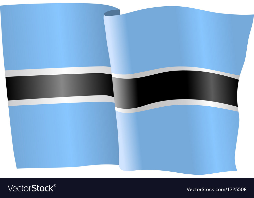Flag of botswana vector | Price: 1 Credit (USD $1)