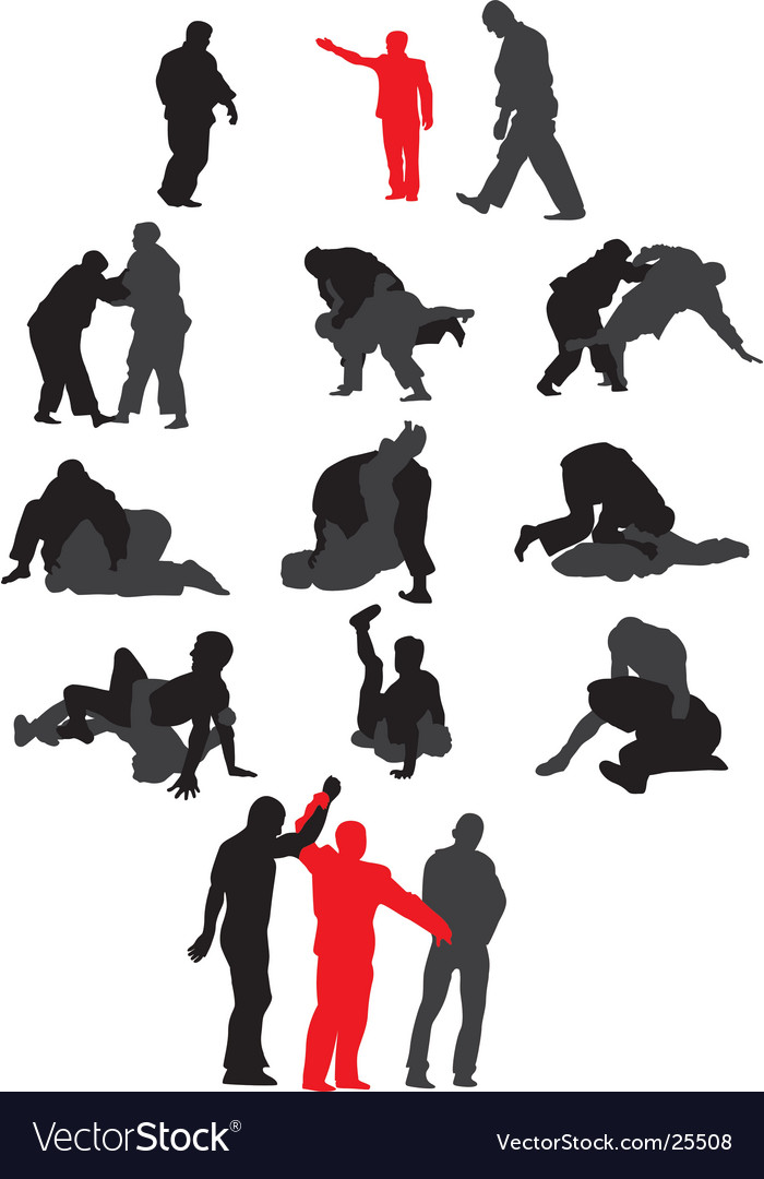 Free-style wrestling vector | Price: 1 Credit (USD $1)