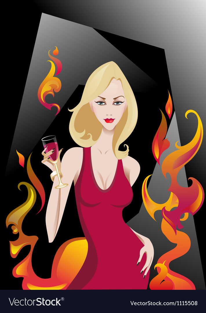 Glamour blonde vector | Price: 3 Credit (USD $3)