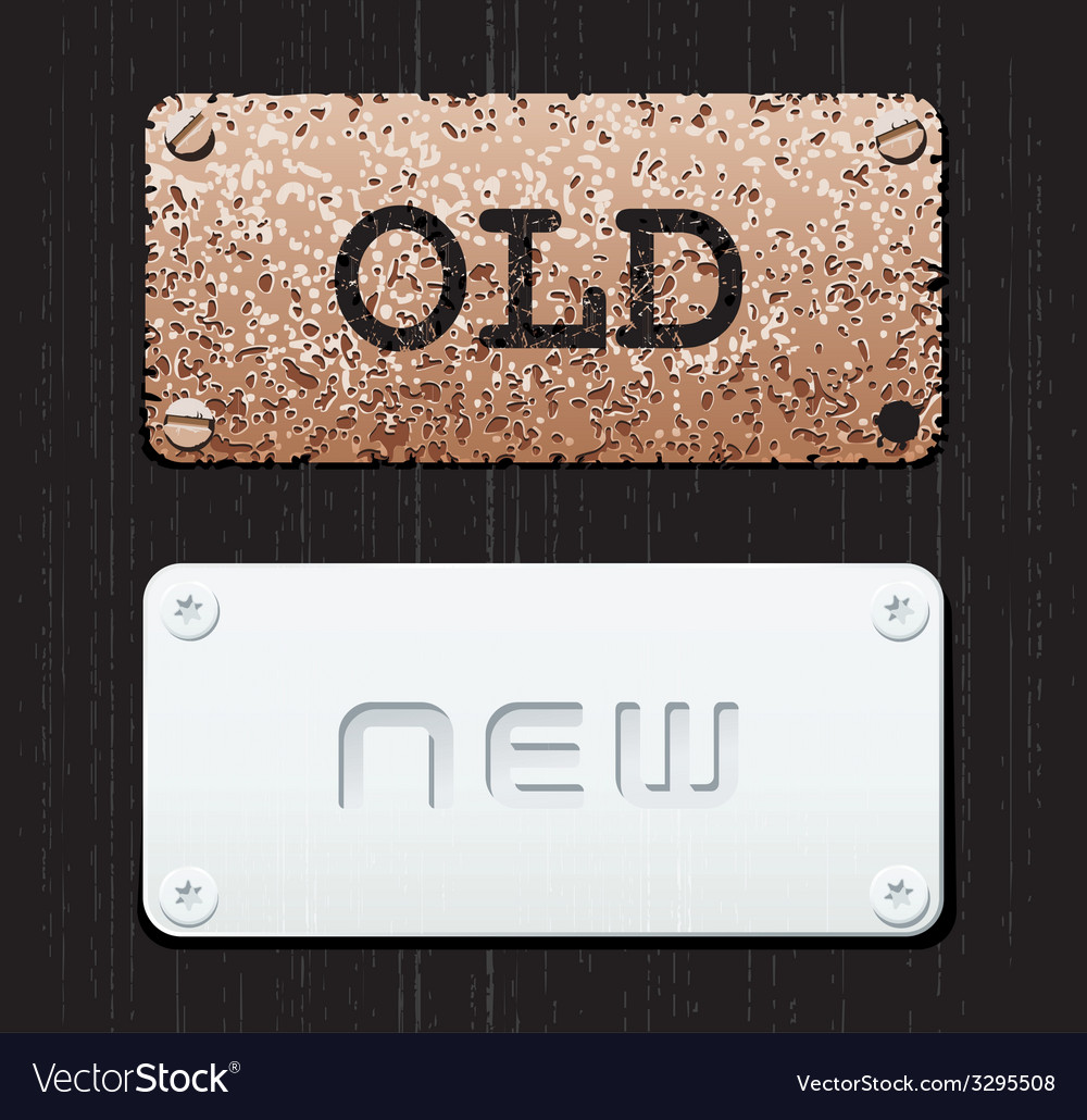 Old new vector | Price: 1 Credit (USD $1)