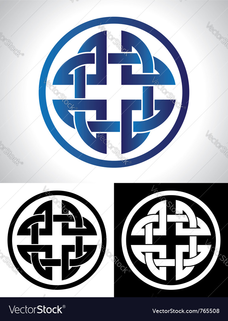 Quaternary celtic knot vector | Price: 1 Credit (USD $1)