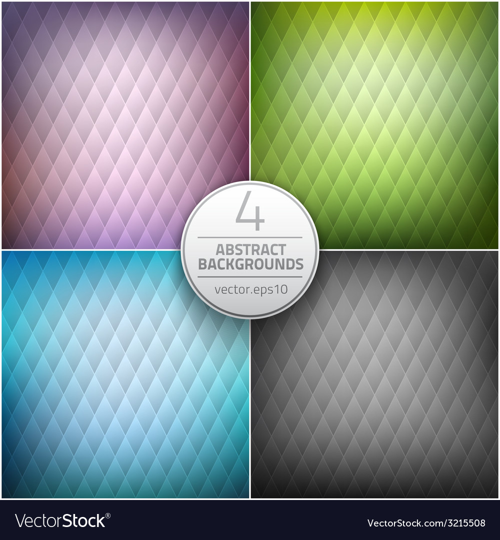 Set of abstract backgrounds vector | Price: 1 Credit (USD $1)