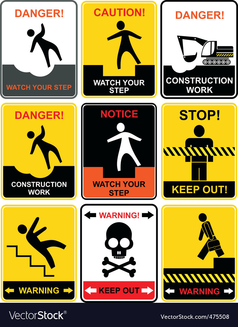 Warning signs vector | Price: 3 Credit (USD $3)