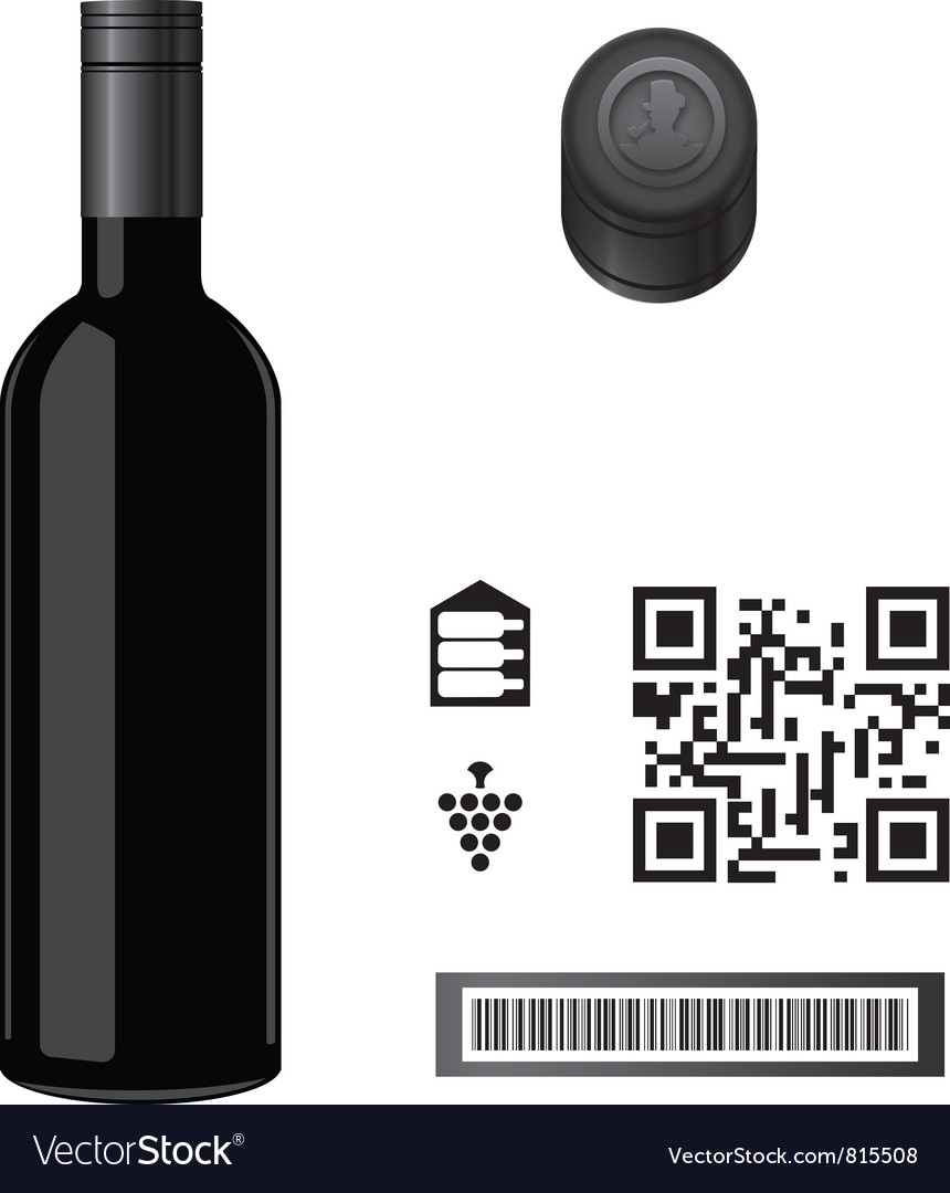 Wine bottle template vector | Price: 1 Credit (USD $1)