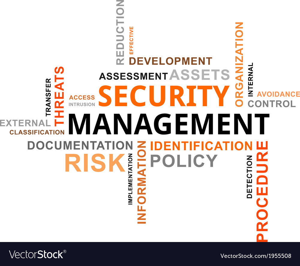 Word cloud security management vector | Price: 1 Credit (USD $1)