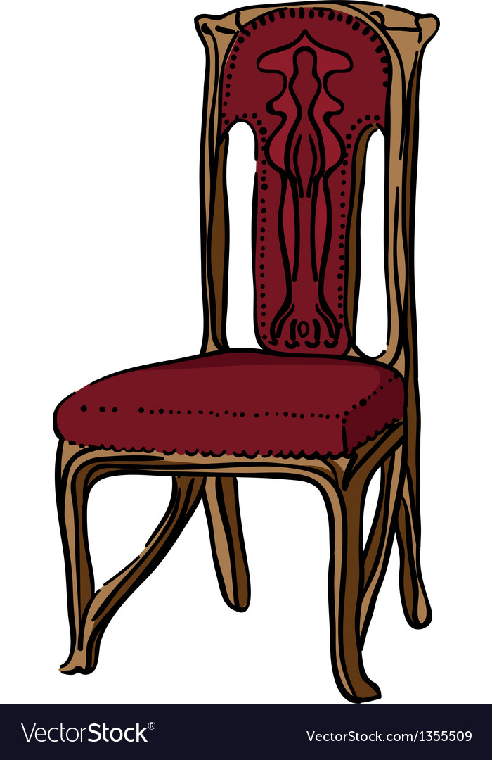 1900 style decorated chair vector | Price: 1 Credit (USD $1)