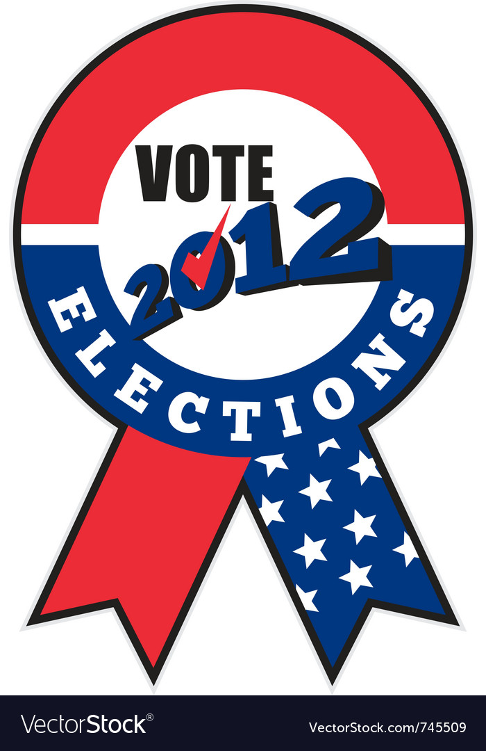 2012 american election ribbon vector | Price: 1 Credit (USD $1)