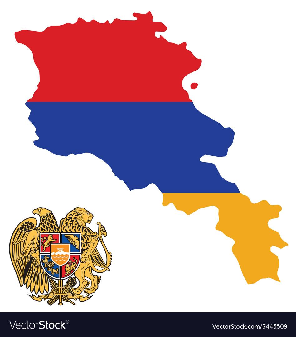 Armenia flag vector | Price: 1 Credit (USD $1)