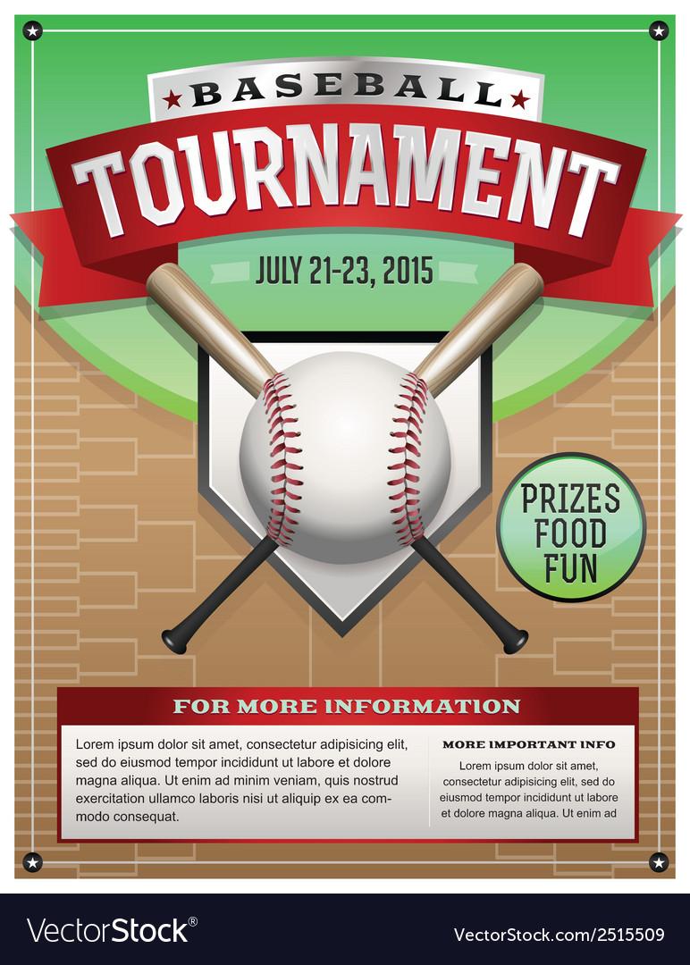 Baseball tournament flyer vector | Price: 1 Credit (USD $1)