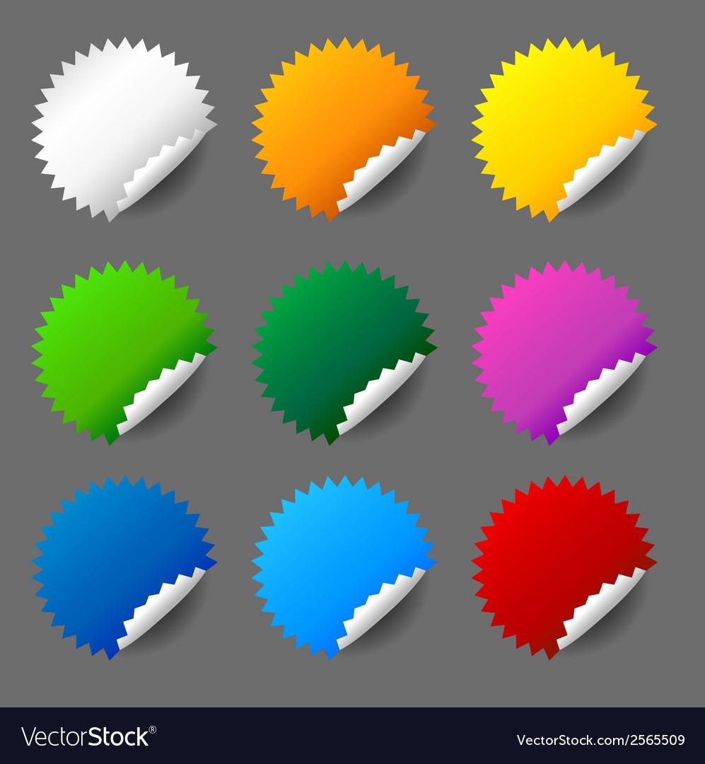 Blank round sticker set vector   Price: 1 Credit (USD $1)