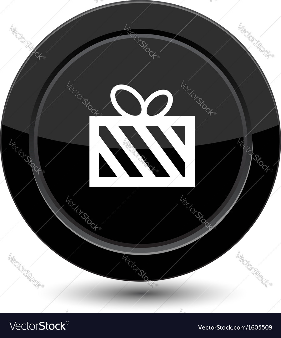 Button with gift vector | Price: 1 Credit (USD $1)