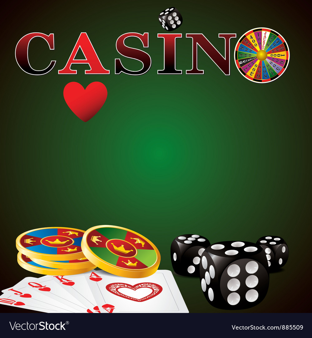 Casino green vector | Price: 1 Credit (USD $1)