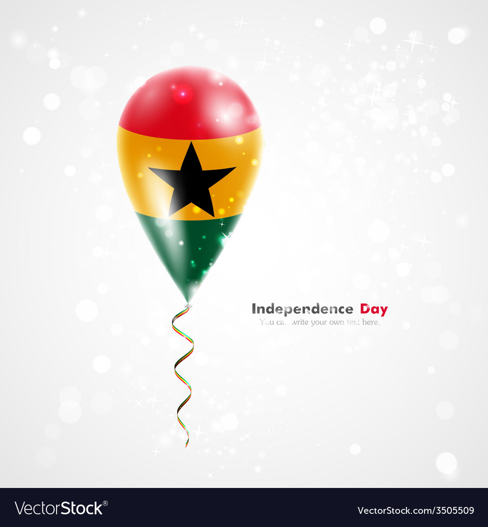 Flag of ghana on balloon vector | Price: 1 Credit (USD $1)
