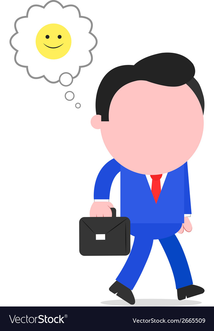 Happy businessman walking vector | Price: 1 Credit (USD $1)