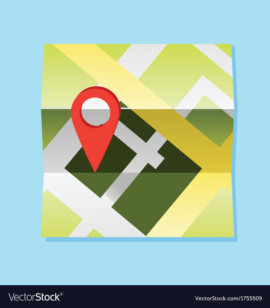 Map and pin vector | Price: 1 Credit (USD $1)