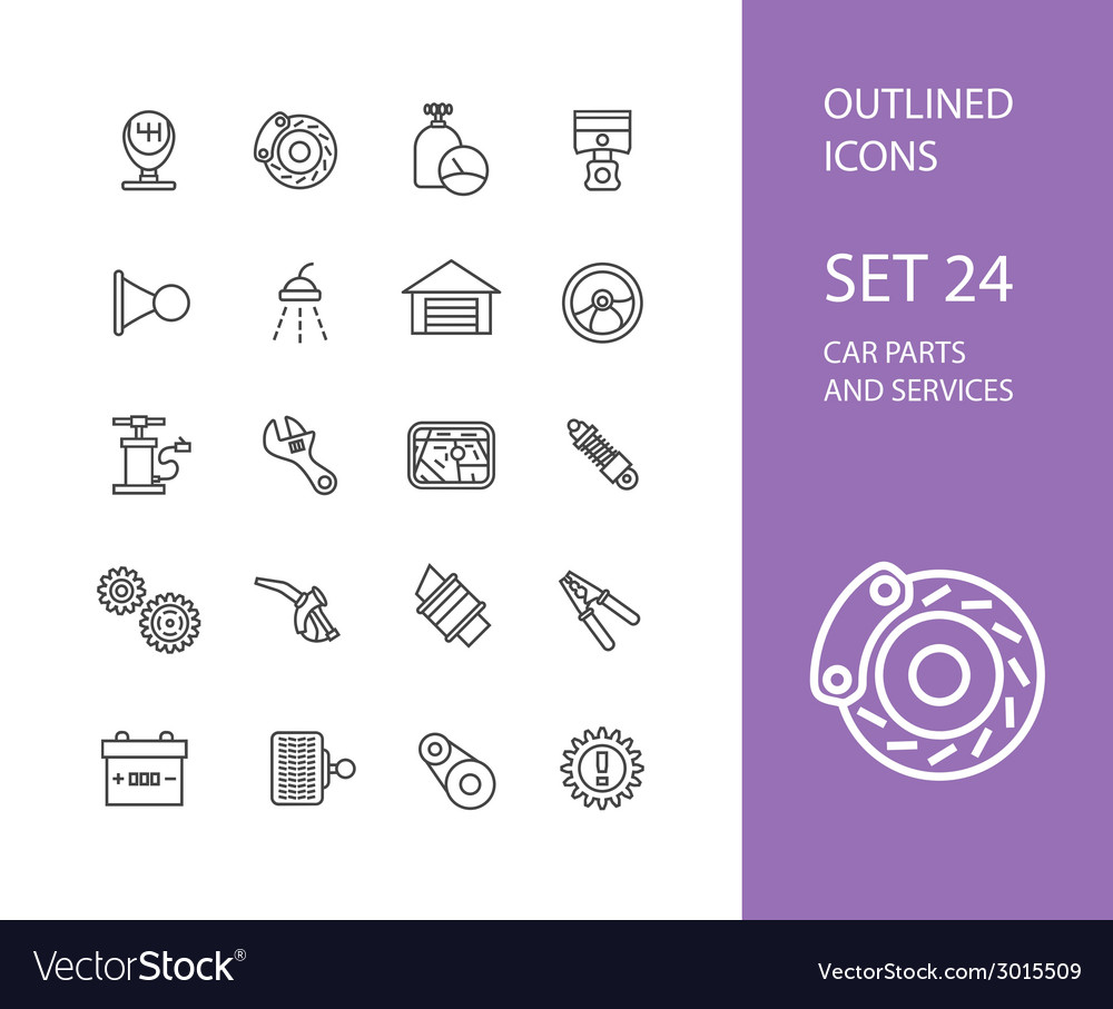 Outline icons thin flat design modern line stroke vector   Price: 1 Credit (USD $1)