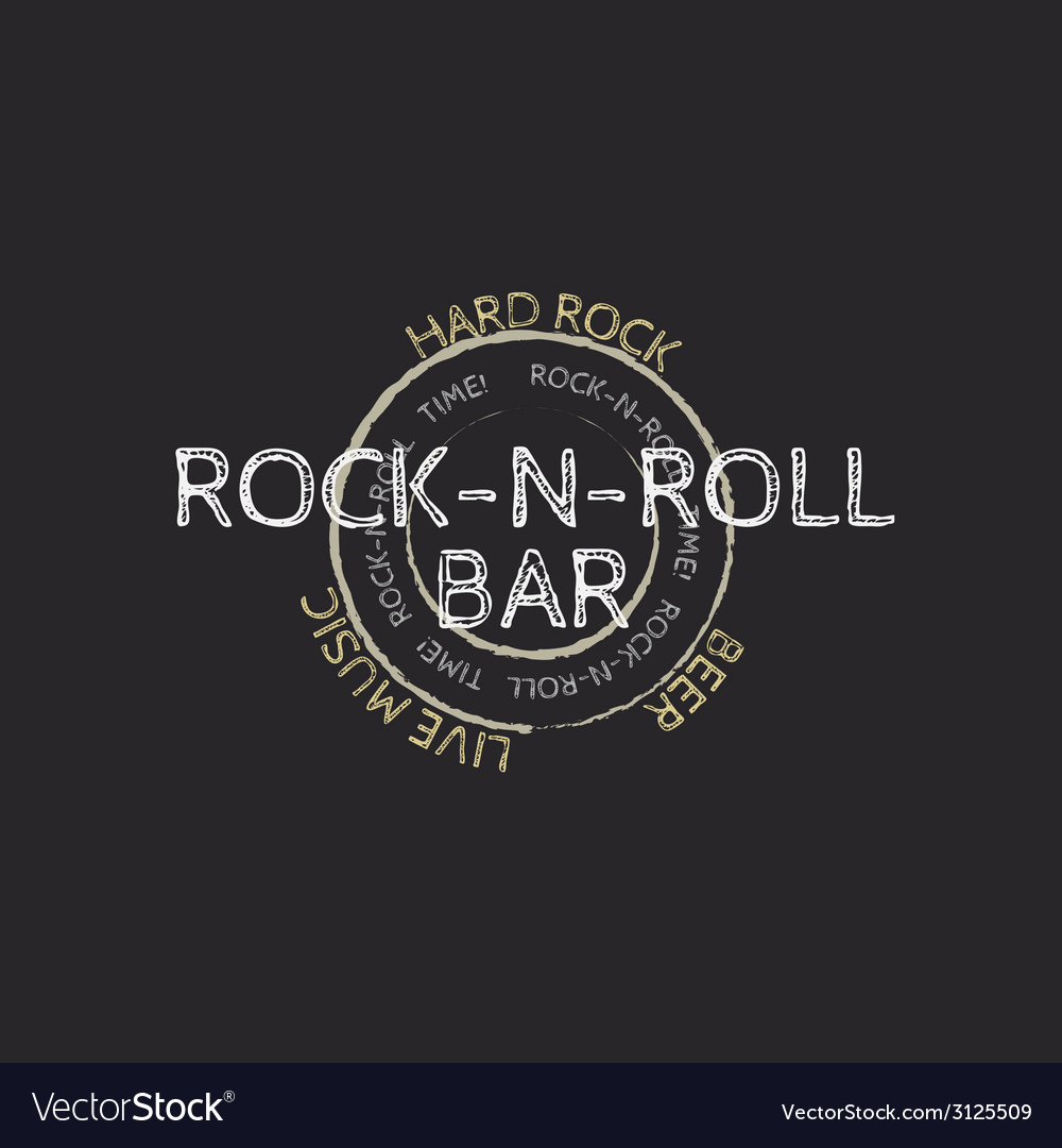 Rock and roll bar stamp vector | Price: 1 Credit (USD $1)