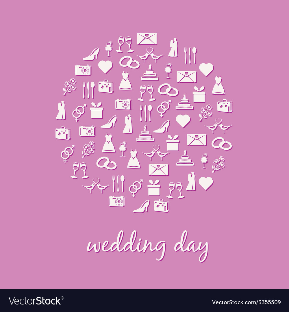 Wedding icon in circle vector | Price: 1 Credit (USD $1)