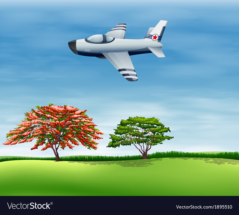 An airplane flying in the sky vector | Price: 1 Credit (USD $1)