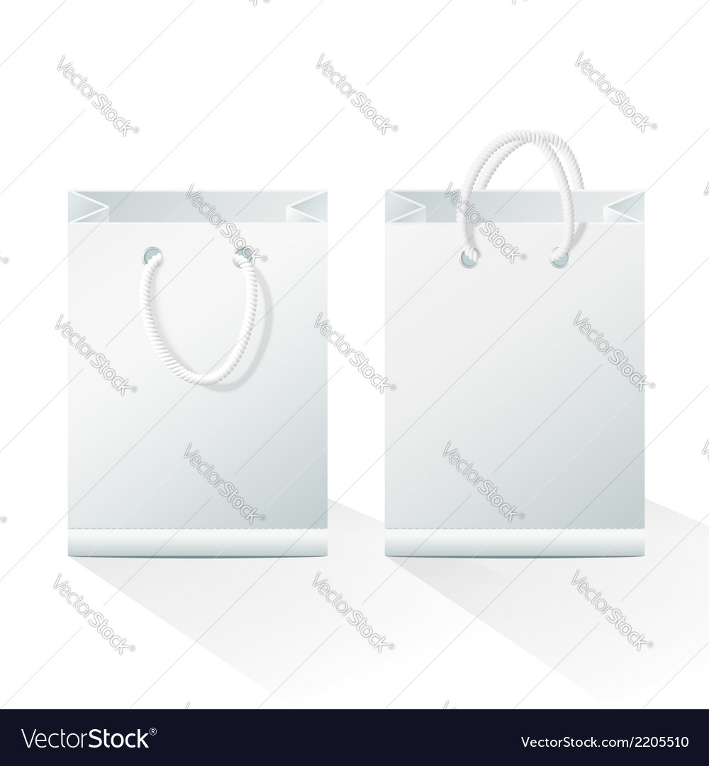 Blank shopping paper bags vector | Price: 1 Credit (USD $1)