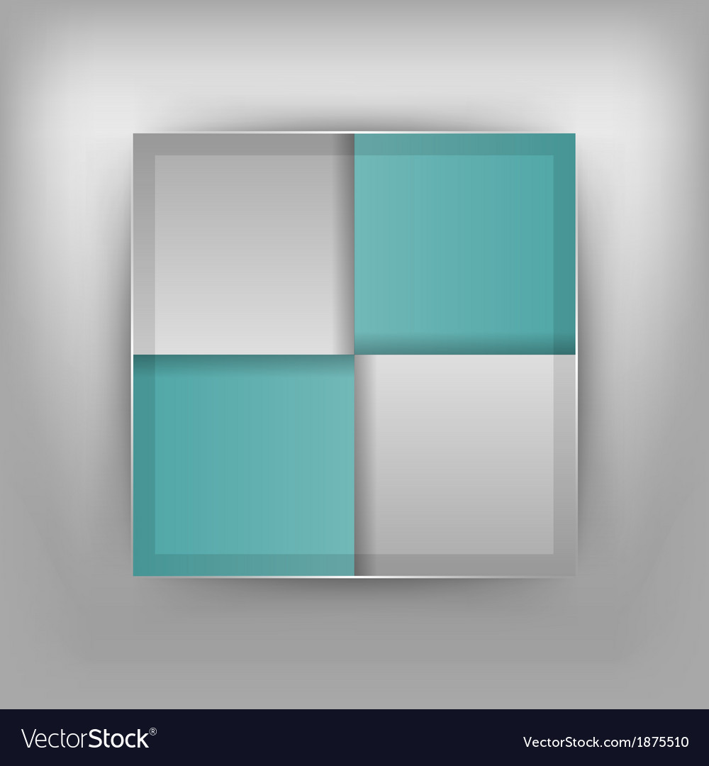 Business four squares turquoise vector | Price: 1 Credit (USD $1)