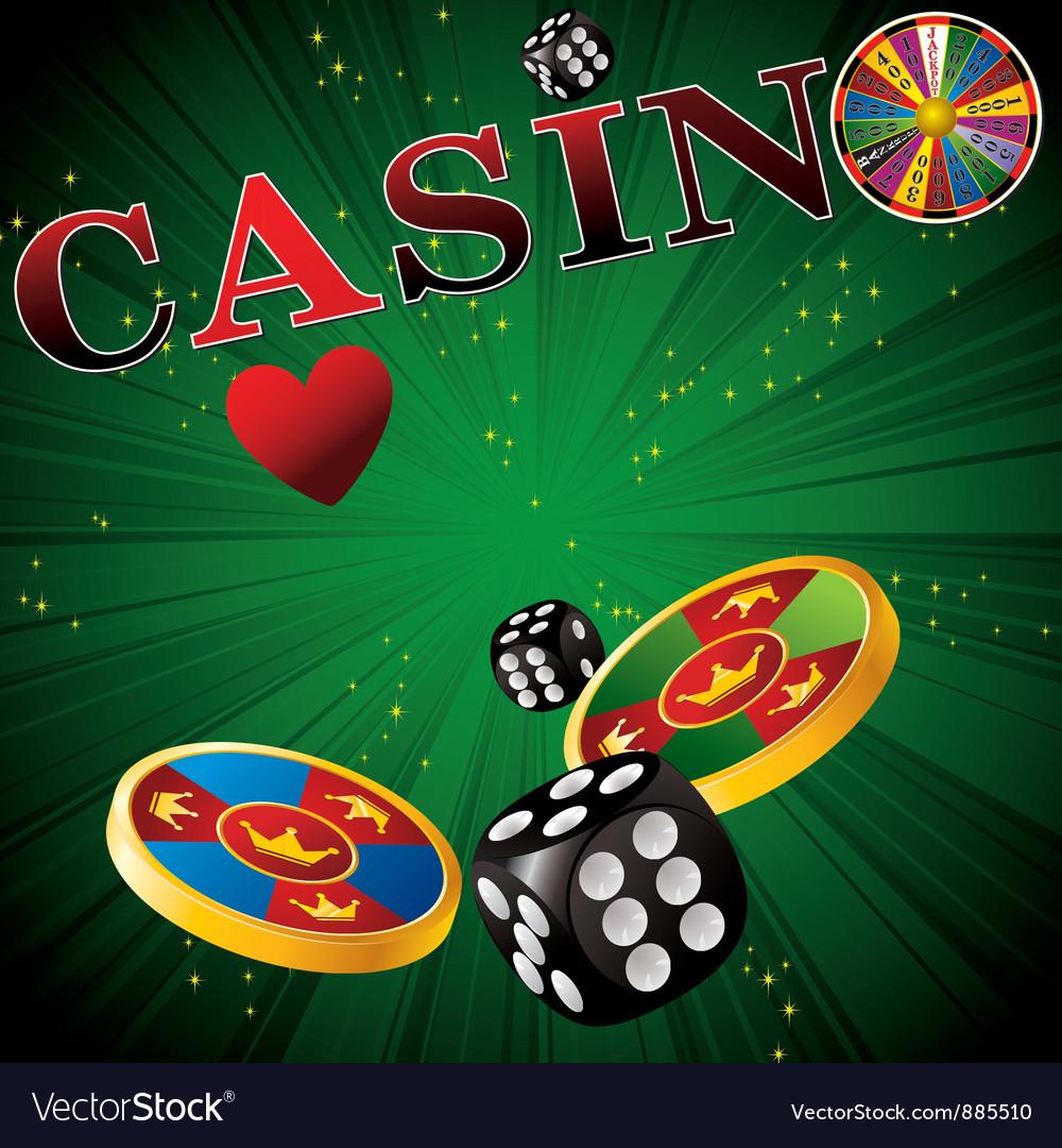 Casino green strip vector | Price: 1 Credit (USD $1)